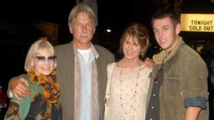 Elyse Knox, Mark Harmon, Pam Dawber and Sean Harmon