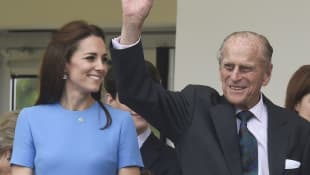 Duchess Kate and Prince Philip at The Patron's Lunch on the occasion of the Queen's 90th birthday on June 12, 2016