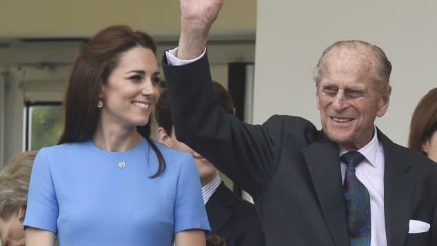 Duchess Kate and Prince Philip