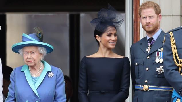 Queen Elizabeth, Duchess Meghan, Prince Harry