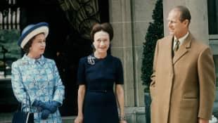 Queen Elizabeth II, Prince Philip and Wallis Simpson