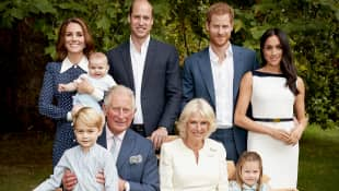 Prince Charles with his family
