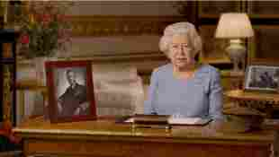 """Queen Elizabeth II during her speech on """"Remembrance Day"""""""