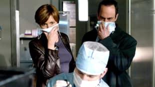 "Mariska Hargitay and Christopher Meloni in ""Law & Order: SVU"""
