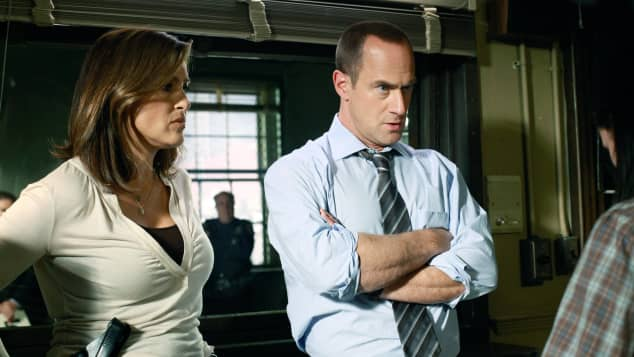 """Law & Order: SVU"": Mariska Hargitay and Christopher Meloni"