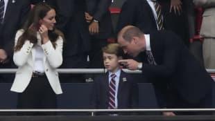 Prince George. Duchess Kate, Prince William