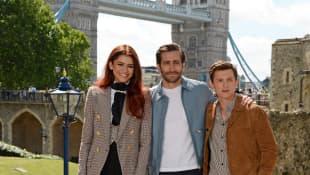Tom Holland, Zendaya and Jake Gyllenhaal