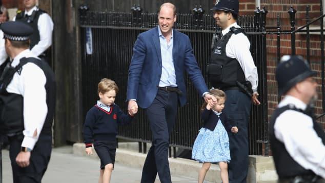 Prince William, Prince George and Princess Charlotte