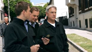 Michael Weatherly, Sean Murray y Mark Harmon