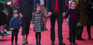Prince Louis Princess Charlotte Prince William Duchess Kate Prince George Palladium