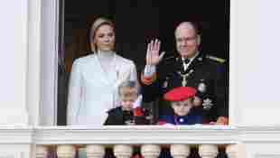 Princess Charlène of Monaco and Prince Albert II with their children Jacques and Gabriella on November 19, 2019
