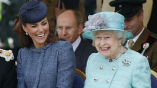 Duchess Kate and Queen Elizabeth II