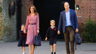 Princess Charlotte, Duchess Kate, Prince George, Prince William