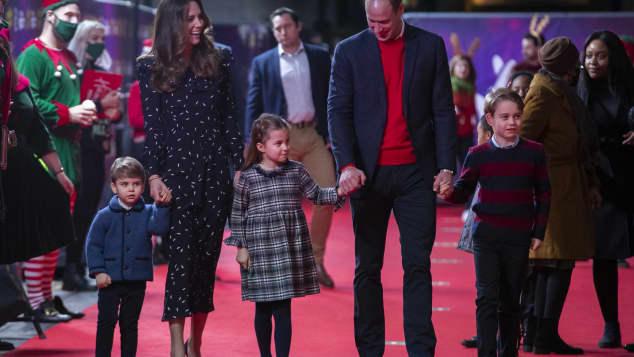 Prince Louis, Duchess Kate, Princess Charlotte, Prince William, Prince George