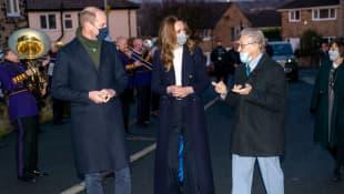 Prince William, Duchess Kate and Len Gardner