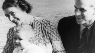 Queen Elizabeth II, Prince Philip and Prince Charles