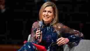Queen Máxima on April 15, 2021 at the Internationaal Theater Amsterdam