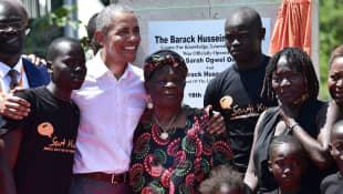 Auma and Barack Obama