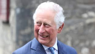 Prince Charles on his visit to St Bartholomew's Hospital in London on May 11, 2021