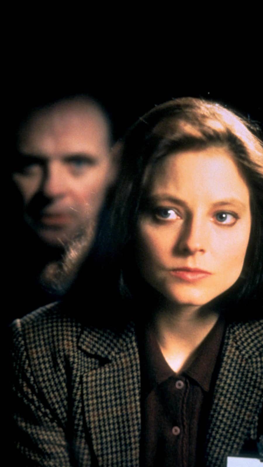 Jodie Foster y Anthony Hopkins en una imagen promocional de 'The Silence of the Lambs'