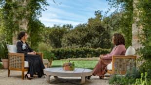 Duchess Meghan in an exclusive interview with talk legend Oprah Winfrey