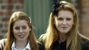 Princess Beatrice with mother Sarah Ferguson