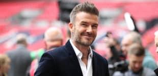 David Beckham at Wembley Stadium in London, 2019.