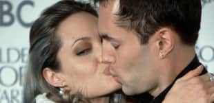 Angelina Jolie kisses her brother James Haven