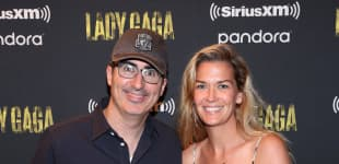 John Oliver's wife Kate Norley is a Iraq War veteran.