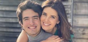 Mayrín Villanueva y su hijo Sebastián Poza