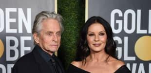 Michael Douglas and Catherine Zeta-Jones at the 2021 Golden Globes