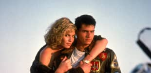 Kelly McGillis and Tom Cruise in 'Top Gun'.