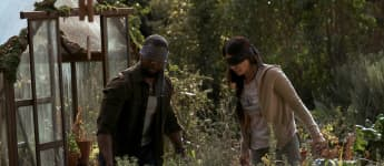 "Sandra Bullock and Trevante Rhodes in the Netflix film, ""Bird Box""."