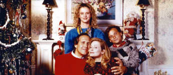 """Chevy Chase, Beverly D'Angelo, Juliette Lewis and Johnny Galecki in """"Christmas Vacation"""""""