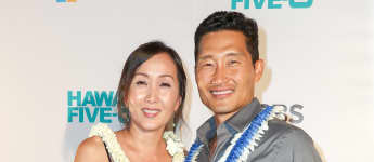 El actor Daniel Dae Kim y su esposa Mia llegan al CBS 'Hawaii Five-0' Sunset On The Beach Season 7 Premier Event en Queen's Surf Beach el 23 de septiembre de 2016 en Waikiki, Hawaii