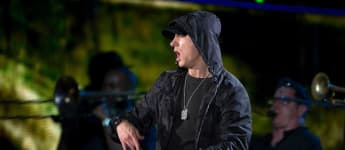 Eminem performing in 2014.