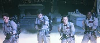 Ernie Hudson, Dan Aykroyd , Bill Murray and Harold Ramis in 'Ghostbusters'