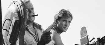Dirk Benedict and George Peppard in 'The A-Team'.