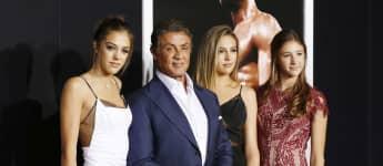 Sylvester Stallone, Sophia Rose Stallone, Sistine Rose Stallone and Scarlet Rose Stallone