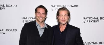 Brad Pitt thanks Bradley Cooper for helping him get sober in emotional acceptance speech