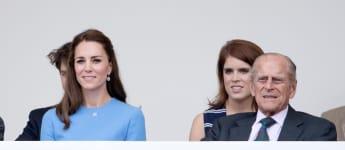 Kate Middleton y el príncipe Felipe