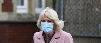 Duchess Camilla visiting a vaccination center