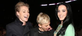 Portia de Rossi, Ellen DeGeneres y Katy Perry