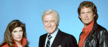 The 'Knight Rider' Cast: Patricia McPherson, Edward Mulhare and David Hasselhoff.
