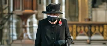 Queen Elizabeth II Remembrance Sunday mask