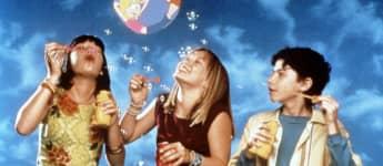 "Lalaine Vergara-Paras, Hilary Duff and Adam Lamberg star in the series, ""Lizzie McGuire"""