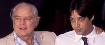 Marlon Brando y Christian Brando en 1990