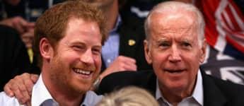 Prince Harry and Joe Biden