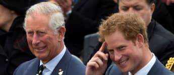 El príncipe Harry y el príncipe Carlos
