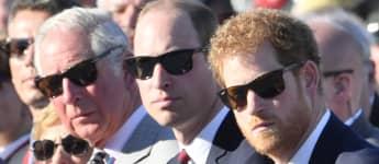 Los príncipes Carlos, William y Harry